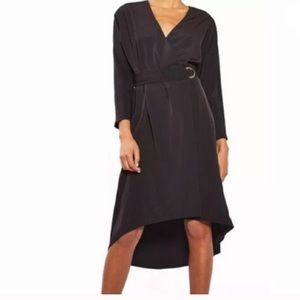 Topshop | Belted Wrap Hi Lo Dress
